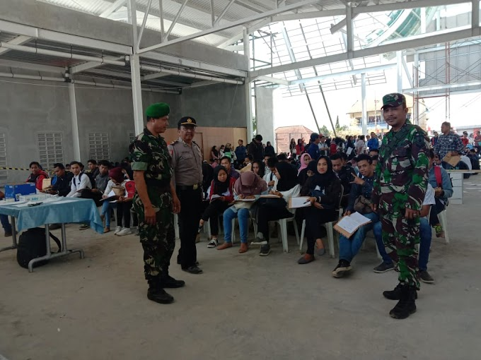 Babinsa Kelurahan Prigen Amankan Rekrutmen Karyawan PT. Cimory