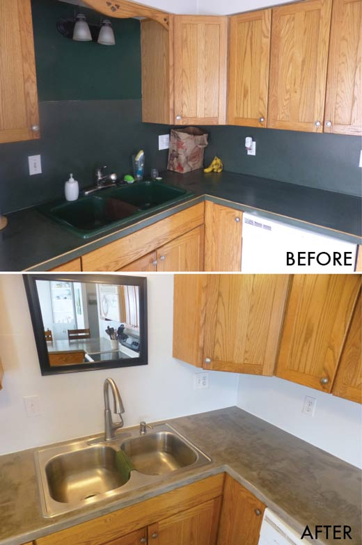 Yay I Made It Diy Concrete Over Laminate Countertops