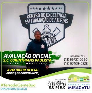 Miracatu recebe avaliação oficial do S.C. Corinthians Paulista