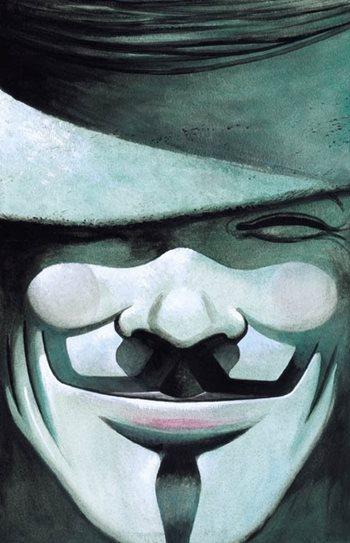 Portada de V de Vendetta de Alan Moore