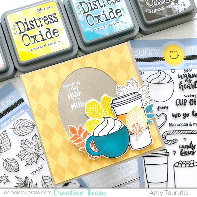 Sunny Studio Stamps: Mug Hugs Customer Card by Amy Tsuruta