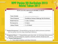 RPP Penjas SD Kurikulum 2013 Revisi Tahun 2017
