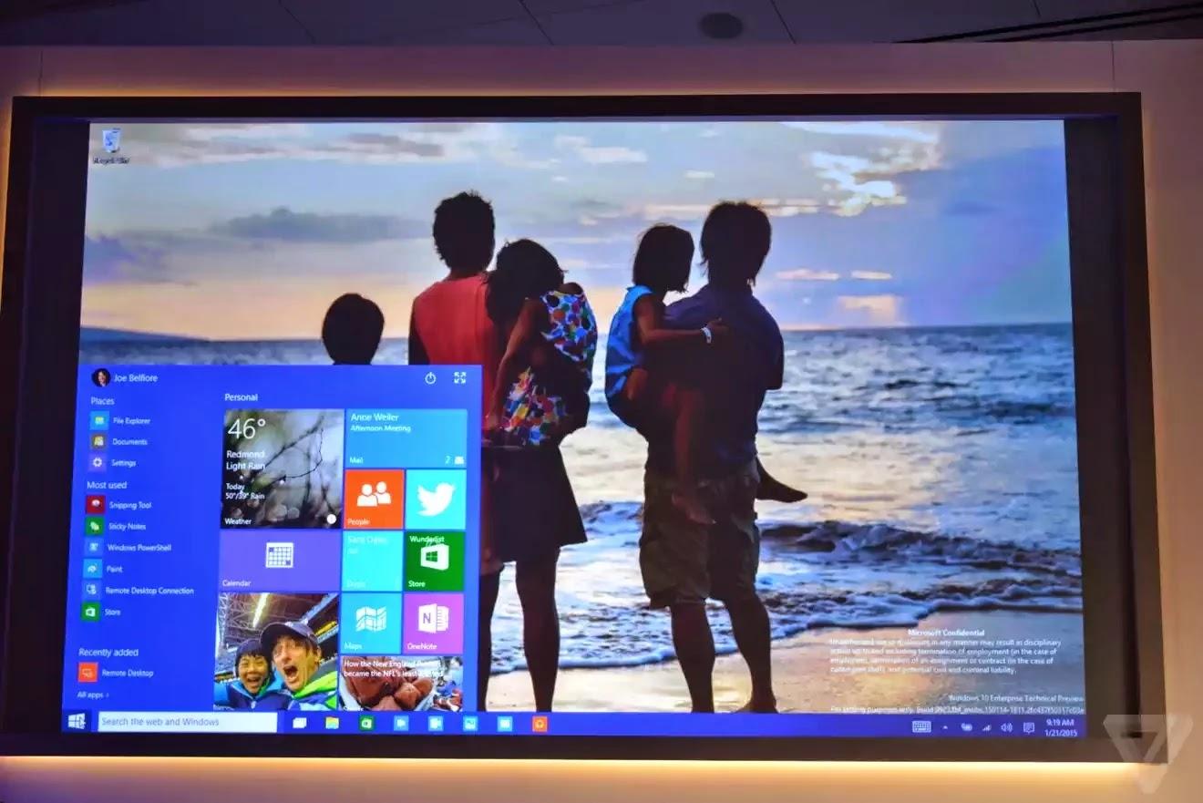 Giao diện desktop trên Windows 10