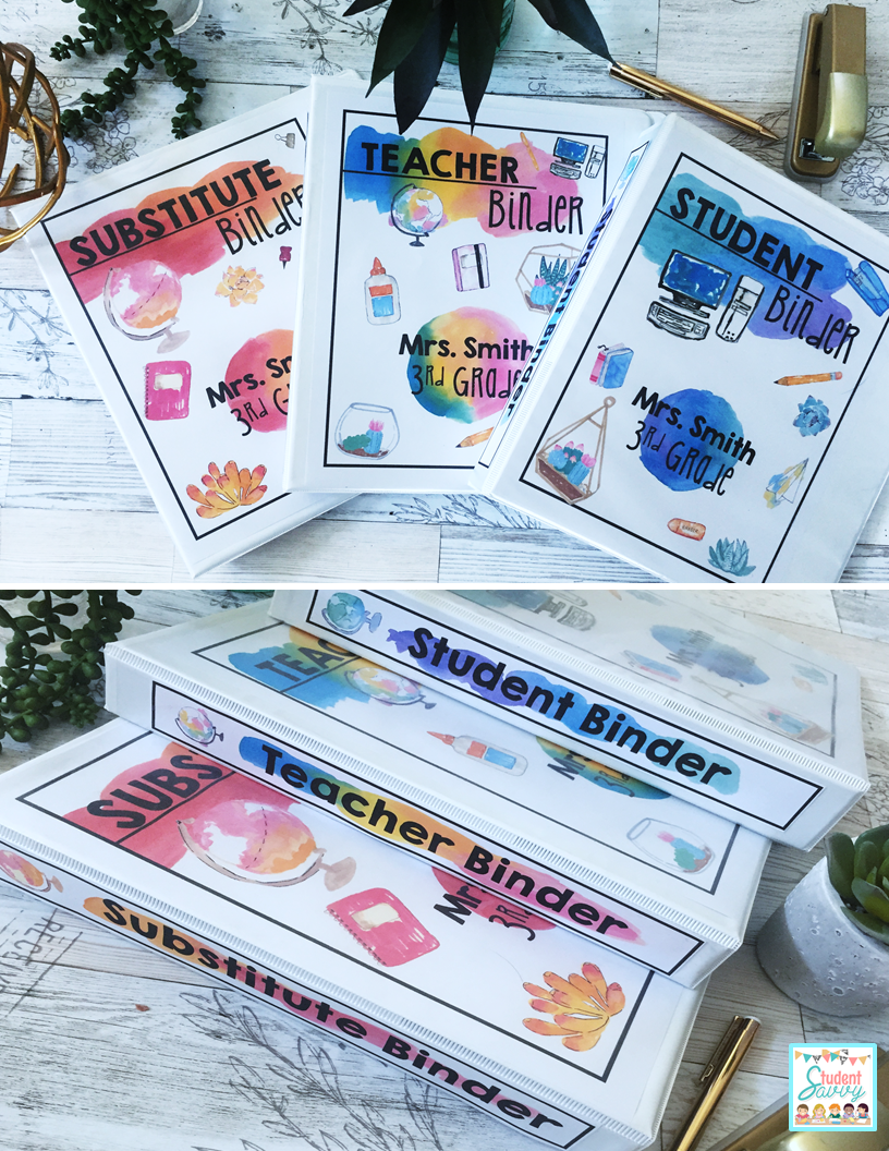 image about Teacher Binder Printables identified as Trainer Binders - Ideas Absolutely free Supplies! University student Savvy