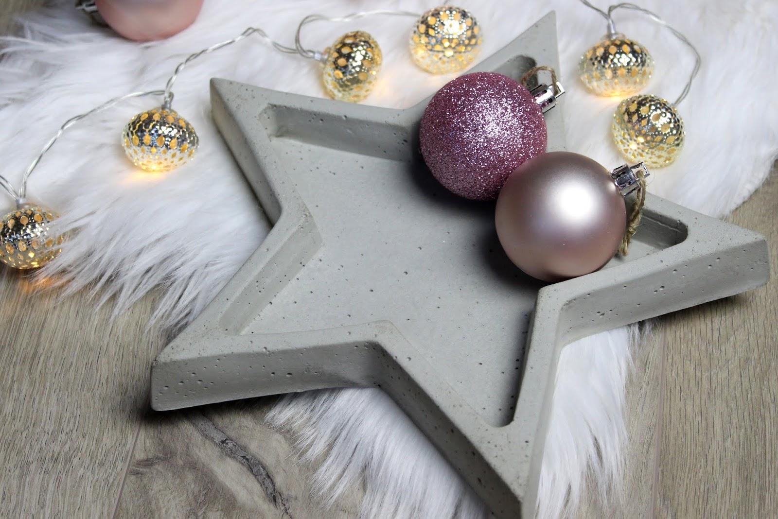 Gebastelte Weihnachtsdeko.Diy Betonschale Stern In Wenigen Schritten Selber Machen Eine