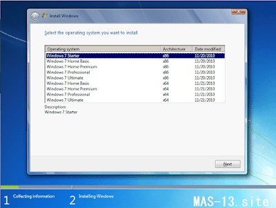 Edisi Windows 7 SP1