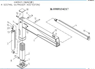 chân của Cẩu soosan 7 tấn SCS746-SCS744