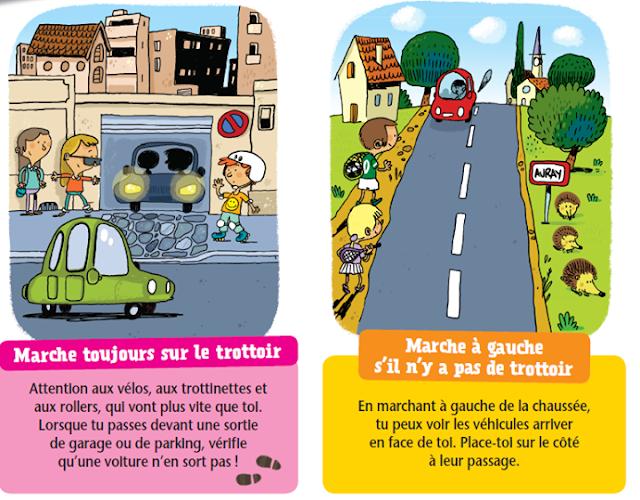 كيف يتصرف الطفل في الطريق  بالفرنسية