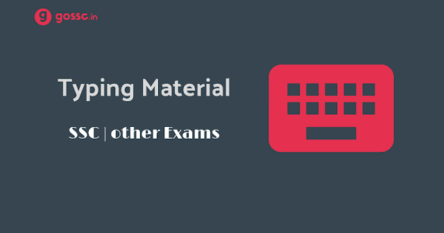 Dest Typing Material SSC PDF