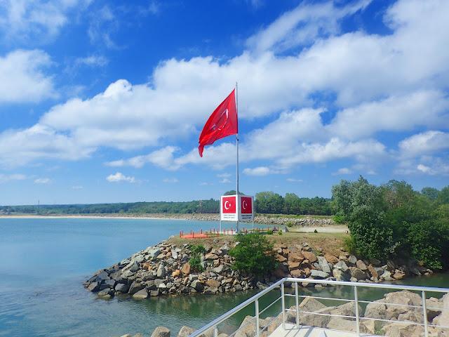 Widok z Bułgarii na Turcję