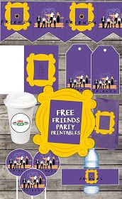 Friends tv show party printables