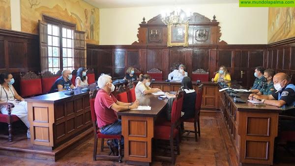 La Junta Local de Seguridad de Los Llanos de Aridane acuerda intensificar los controles e insistir  en la responsabilidad individual para seguir evitando los contagios de COVID