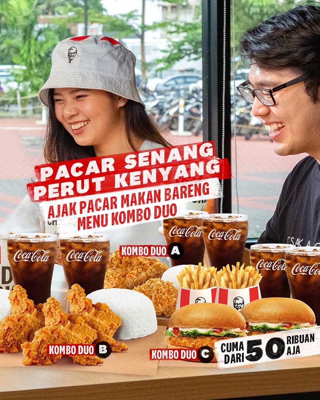 Promo KFC KOMBO DUO harga mulai dari Rp. 45.455