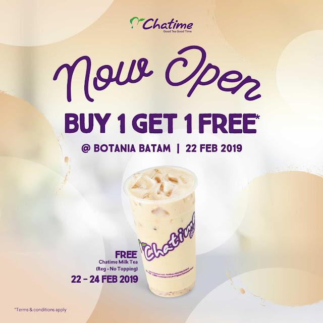 #Chatime - #Promo Opening Buy 1 Get 1 Free di Botania Batam
