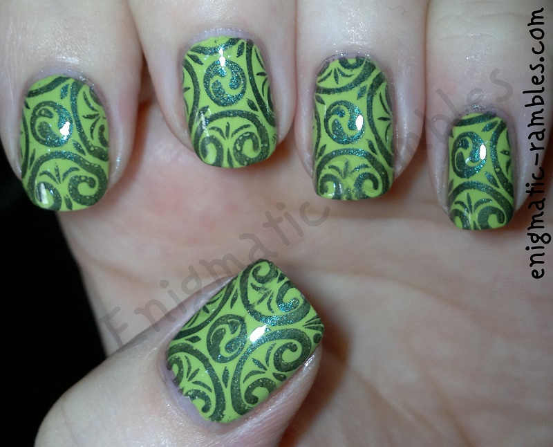 Enigmatic rambles nails fightforlightandlive depression awareness depression awareness nails fightforlightandlive barry m key lime prinsesfo Image collections