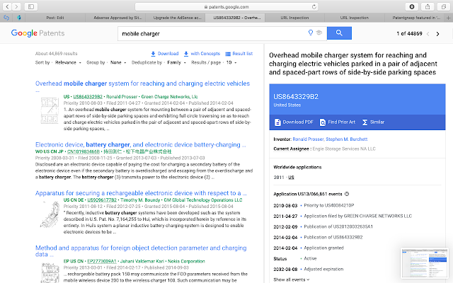 viewing google results side view