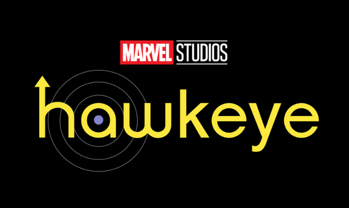 Imagem de capa: fundo preto com o logo amarelo de Hawkeye com o H com uma seta e um alvo desenhado no A.