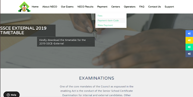 NECO Items Payment Portal Guidelines [NCEE, BECE, SSCE & Others]