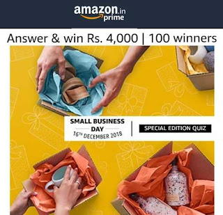 Amazon Small Business Day Special Edition Quiz Answers