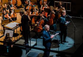 Shostakovich: Hamlet - Jan Latham-Koenig, Edward Fox, Freddie Fox, Britten-Shostakovich Festival Orchestra - Cadogan Hall (Photo Luke Toddfrey)