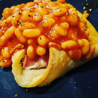 Bacon Puff Pastry Wrap Thingy with Beans