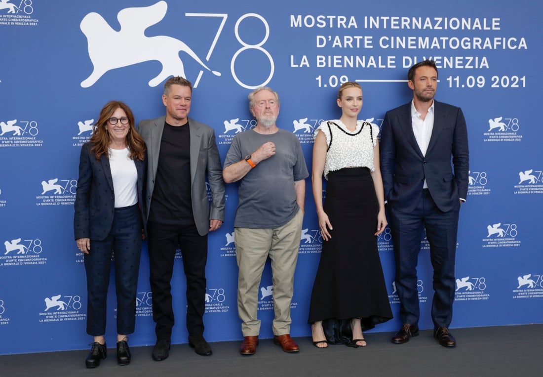 """""""O Último Duelo"""": Filme tem estreia mundial em Veneza com a presença das estrelas do filme"""