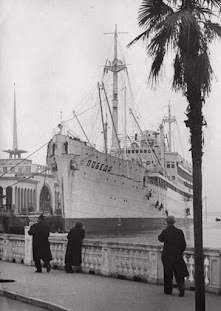 The POBEDA at Batumi 1948, underging light maintenance work whilst the ship was being off loaded