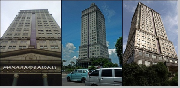 Menara Saidah gedung yang terbengkalai ditinggal penghuninya - pustakapengetahuan.com