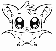 Cute Baby Bat Adorable Animal Coloring Pages Online
