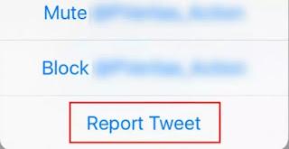 melaporkan berita hoax di twitter