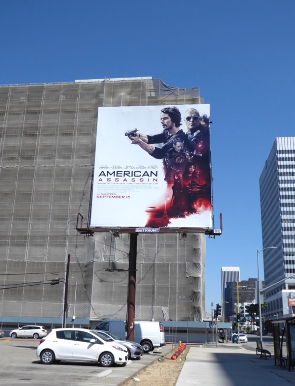 American Assassin movie billboard