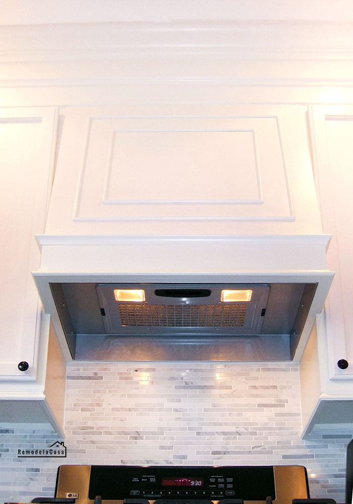 DIY range hood with Broan MP390 insert and liner