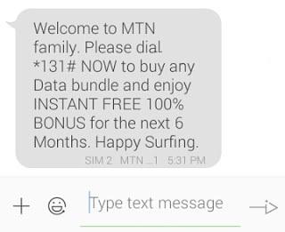 MTN Family -Get 100% Bonus From All Data You Buy
