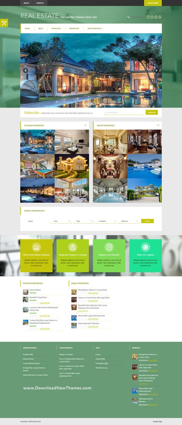 Responsive Woocommerce Real Estate WordPress Theme