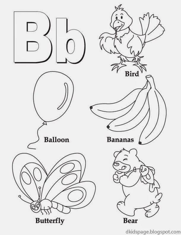Printable Worksheets free printable alphabet worksheets for kindergarten : Kids Page: Letter B | Alphabet Letters Printable Worksheet for Kids
