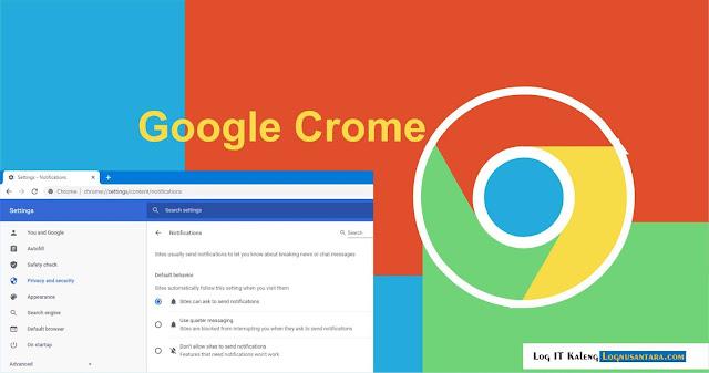 Cara Menonaktifkan Notifikasi Web di Google Chrome