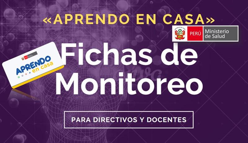 Fichas de monitoreo para directivos y docentes