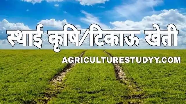 स्थाई कृषि/टिकाऊ खेती क्या है अर्थ एवं परिभाषा, sustainable agriculture in hindi, पोषणीय कृषि, संपोषित कृषि एवं सतत कृषि, टिकाऊ खेती के सिद्धांत, टिकाऊ खेती के प्रकार, टिकाऊ खेती के लाभ एवं विशेषताए