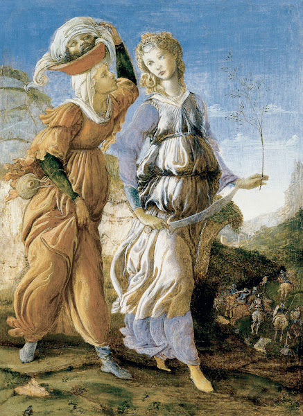 The Return of Judith to Bethulia by Sandro Botticelli, Macabre Art, Macabre Paintings, Horror Paintings, Freak Art, Freak Paintings, Horror Picture, Terror Pictures