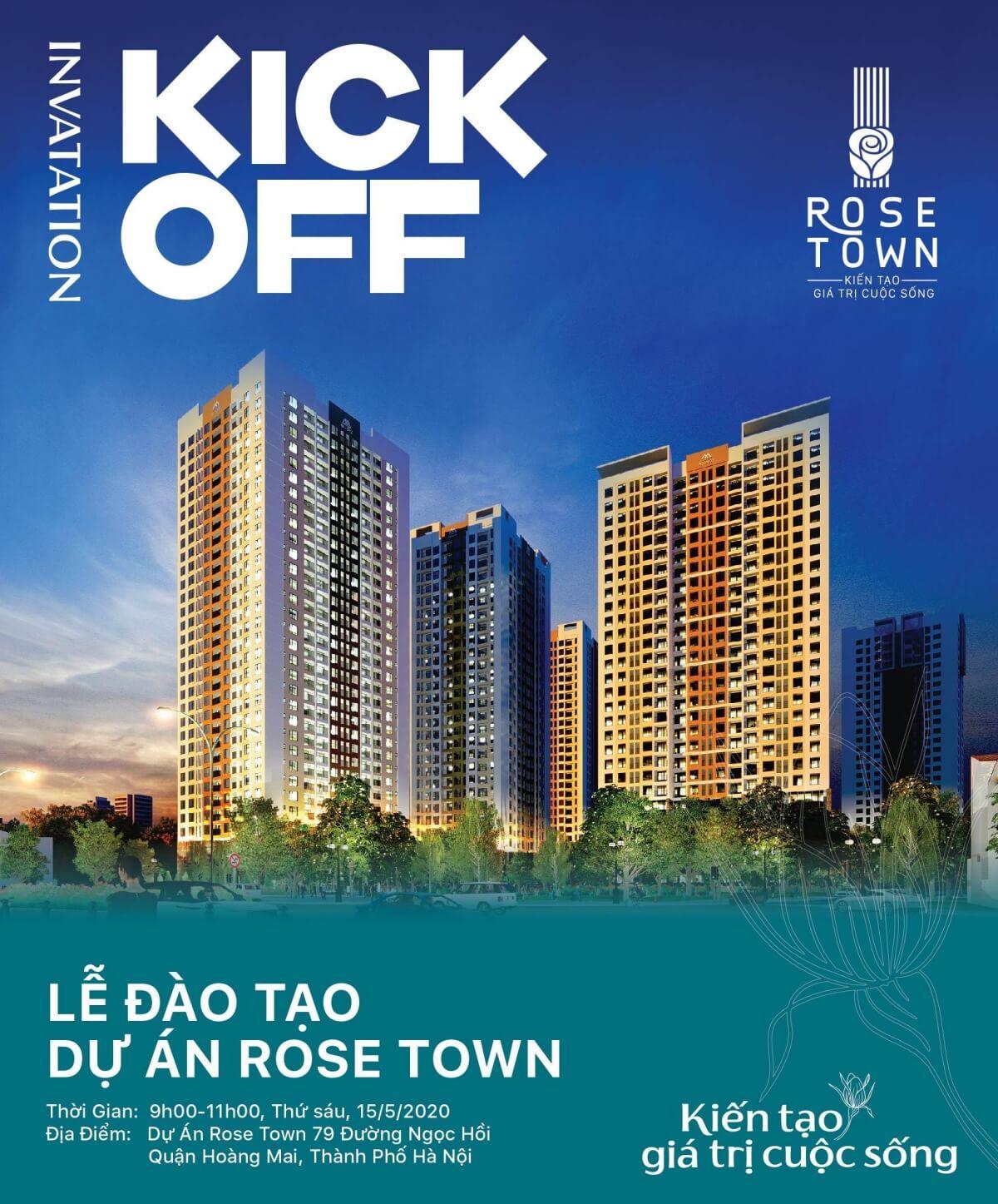 Banner kickoff dự án Rose Town 79 Ngọc Hồi
