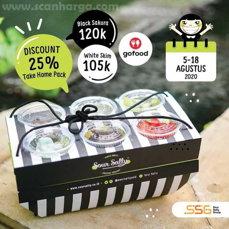 Promo Sour Sally Foodiskon 25% Take Home Page Pesan Via Gofood