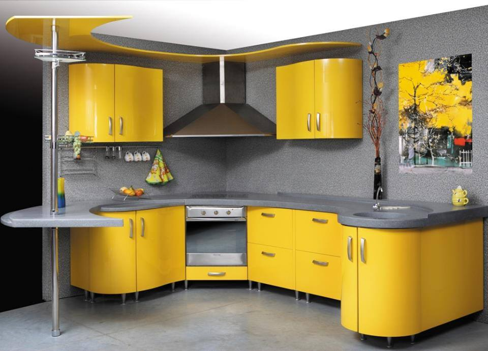 Gorgeous yellow kitchens design 2016 that leave you for India kitchen cabinetry show 2016