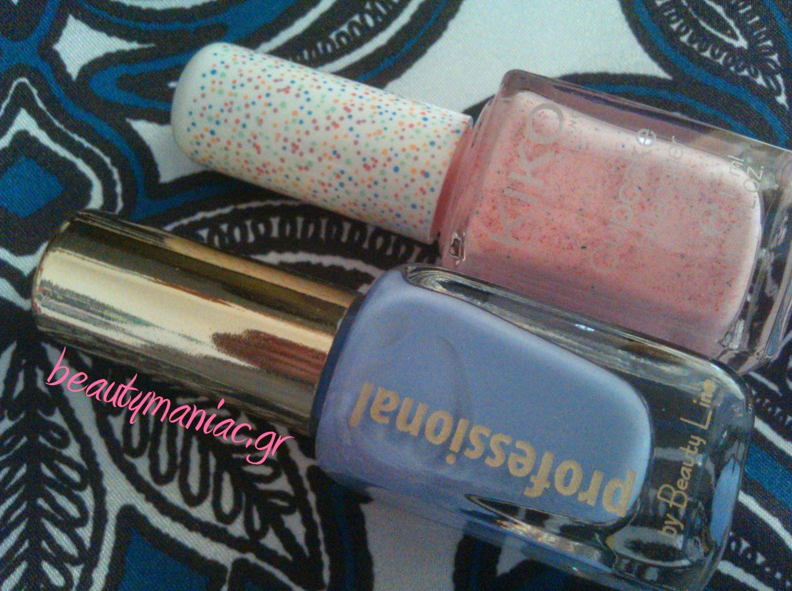 50169bad64c Είναι το KIKO Cupcake #651 Strawberryκαι το λιλά Professional by Beauty  Line που δεν έχει απόχρωση.