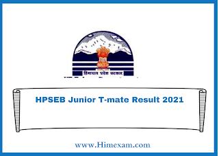 HPSEB Junior T-mate Result 2021