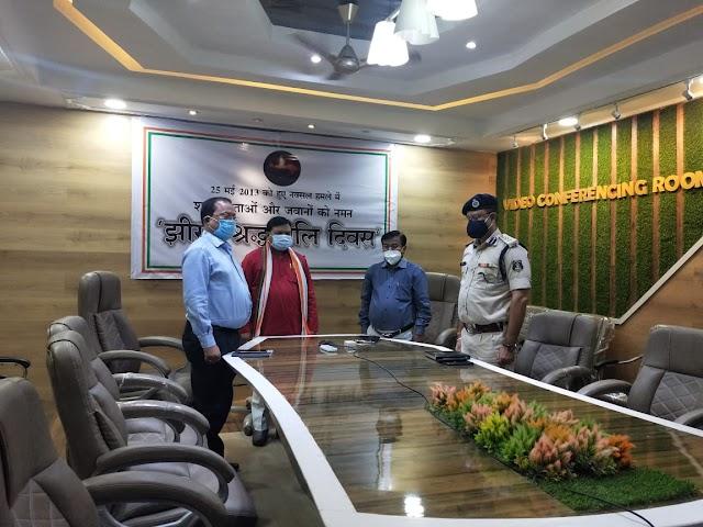 झीरम श्रद्धांजलि दिवस : जशपुर विधायक विनय भगत समेत कलेक्टर और पुलिस अधीक्षक ने शहीद जवानों और नेताओं को अर्पित की श्रद्धांजलि