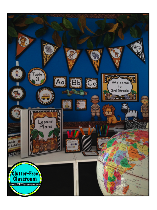 Classroom Decor Animals ~ Jungle safari classroom theme clutter free