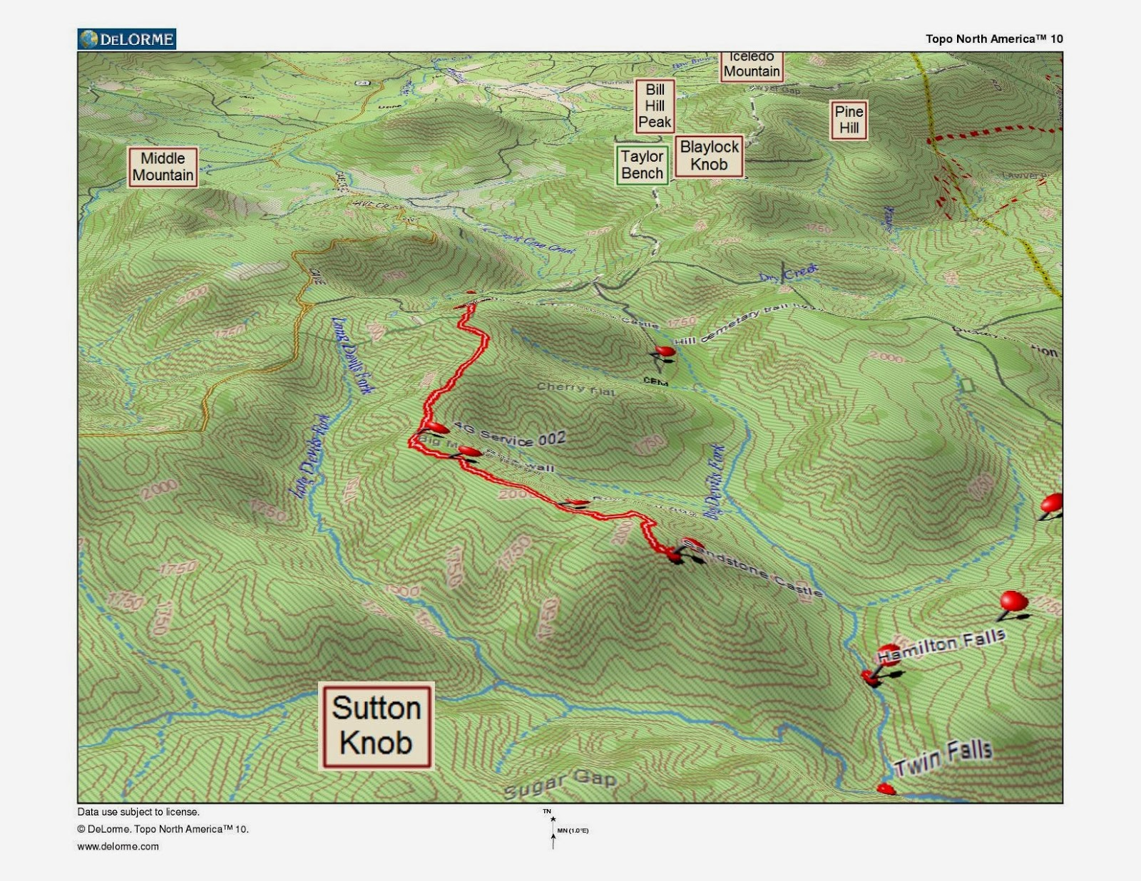 Rick's Hiking Blog: Sandstone Castle, Richland Wilderness