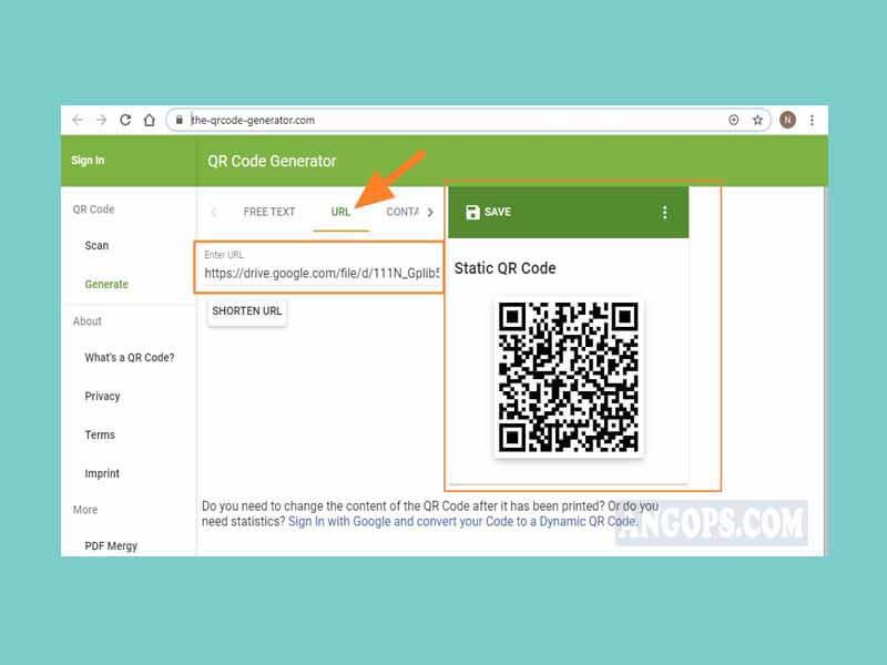 cara membuat barcode google drive online