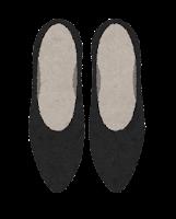 上から見た靴のイラスト(ハイヒール)