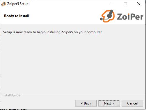 Install Zoiper